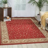 "Nourison Somerset Red Area Rug - 3'6"" x 5'6"""