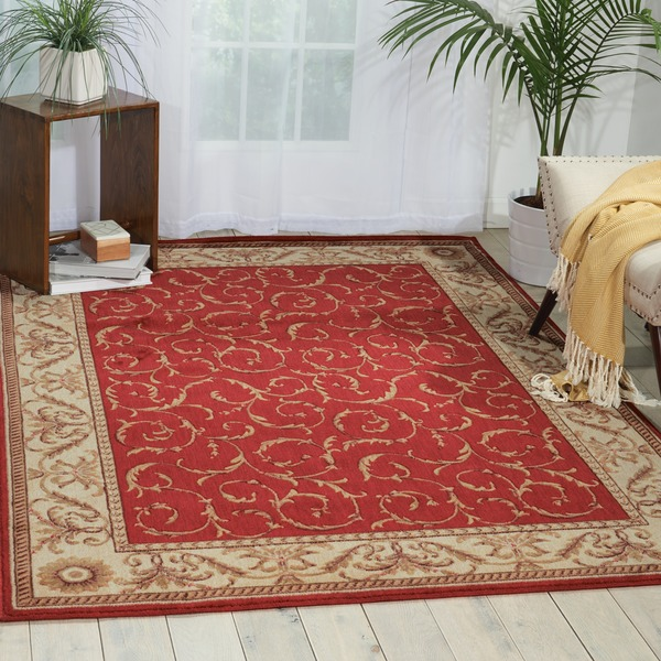 "Nourison Somerset Red Area Rug - 5'6"" x 7'5"""