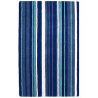 Hand-tufted Blue Cosmo Striped Wool Rug (8' x 10') - 8' x 10'