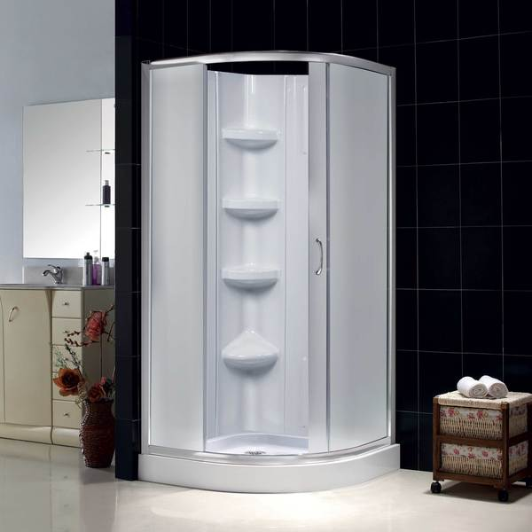 DreamLine Sparkle Frosted Glass Enclosure 32x32 Inch Base And Backwall Kit