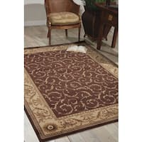 "Nourison Somerset Brown Area Rug (7'9 x 10'10) - 7'9"" x 10'10"""