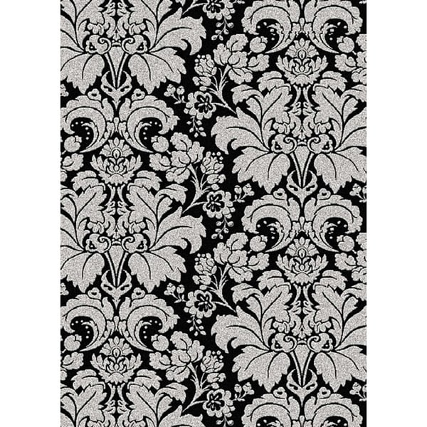 """Admire Home Living Brilliance Damask Area Rug (7'9 x 11') - 7'9"""" x 11'"""