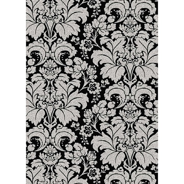 """Admire Home Living Brilliance Damask Area Rug (7'9"""" x 11')"""