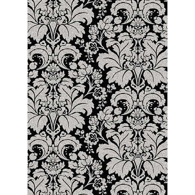"Admire Home Living Brilliance Damask Area Rug (7'9 x 11') - 7'9"" x 11'"