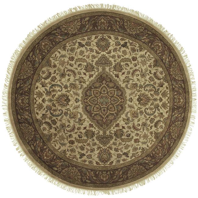 Hand-knotted Revelry Wool Rug (8' Round)