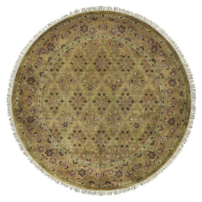 Hand-knotted Belmont Wool Rug (8' Round)