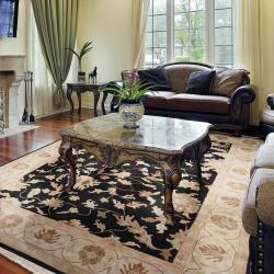 Hand-knotted Filigree Wool Rug (9' x 13')