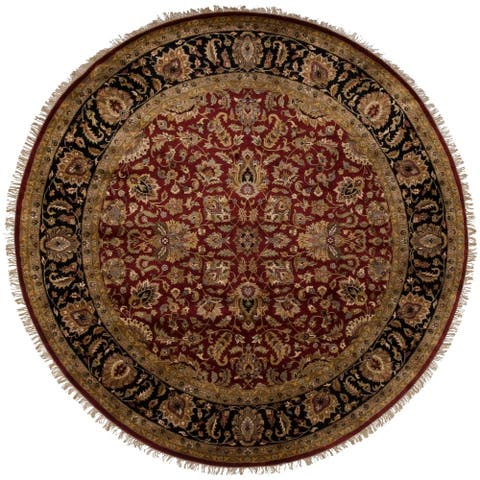 Hand Knotted Elon Wool Area Rug - 8' Round