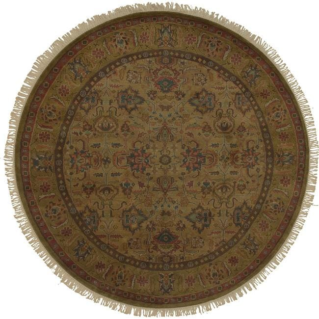 Hand Knotted Americus Wool Rug (8' Round)