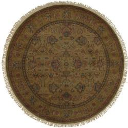 Hand Knotted Americus Wool Area Rug (8' Round) - Thumbnail 0