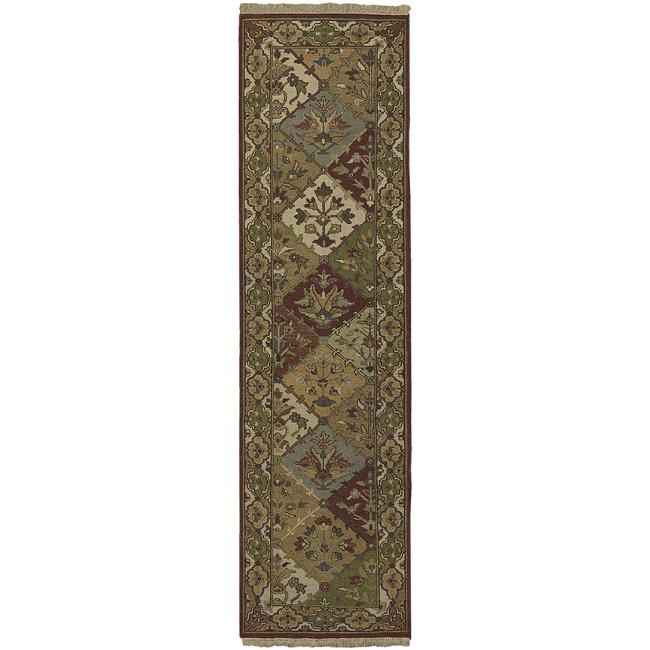 Hand-knotted Triumphant Wool Rug (2'6 x10')