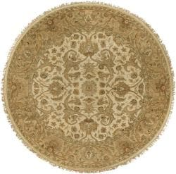 Hand-knotted Claxton Wool Rug (8' Round)