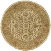 Hand-knotted Clax ton Wool Area Rug - 8' Round