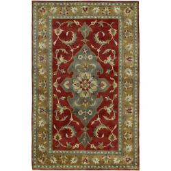 Hand-knotted Dahlia Wool Area Rug - 9' x 13' - Thumbnail 0