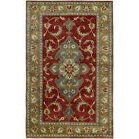 Hand-knotted Dahlia Wool Area Rug (9' x 13')