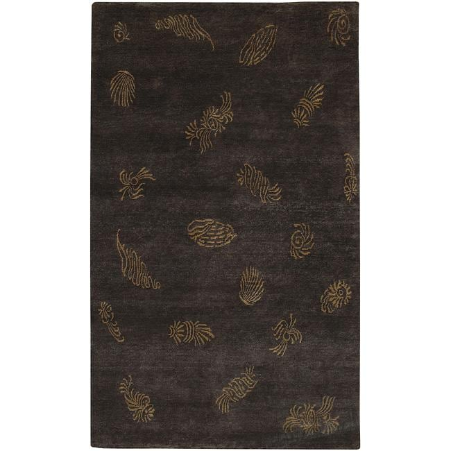 Hand-knotted Dorset Wool Area Rug (5' x 8')
