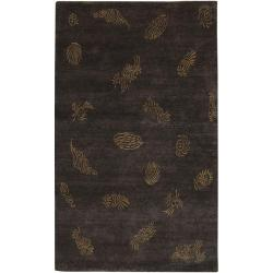 Hand-knotted Dorset Wool Rug (5' x 8')
