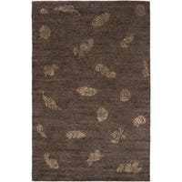 Hand-knotted Dorset Wool Area Rug - 5' x 8'