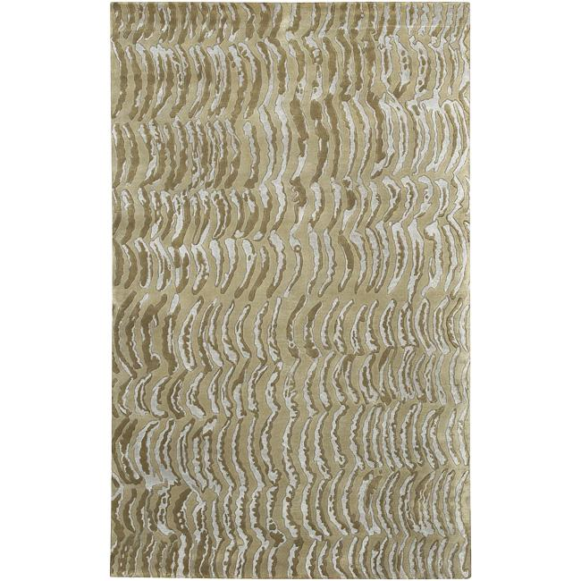 Hand-knotted Clermont Abstract Design Wool Rug (4' x 6')