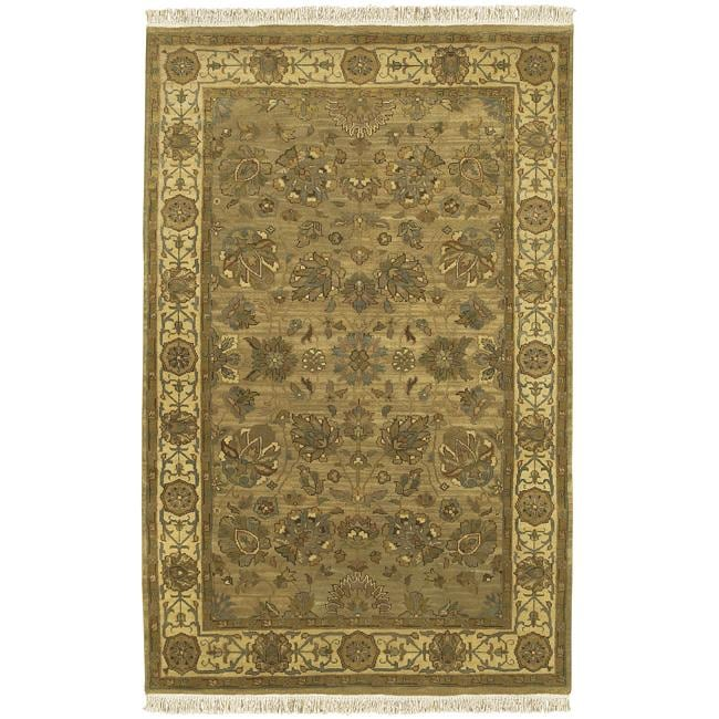 Hand-knotted Kargil Wool Area Rug (9' x 13')