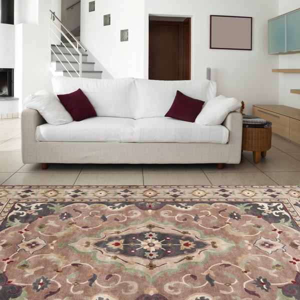 Hand-knotted Rohan Wool Rug (9' x 13')