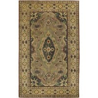 Hand-knotted Rohan Wool Area Rug - 9' x 13'