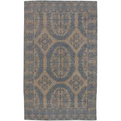 Hand-knotted Patina Wool Area Rug - 8' x 11' - Thumbnail 0