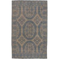 Hand-knotted Patina Wool Area Rug - 8' x 11'