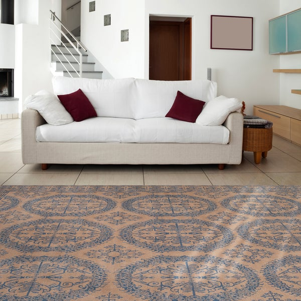 Hand-knotted Patina Wool Area Rug - 9' x 13'