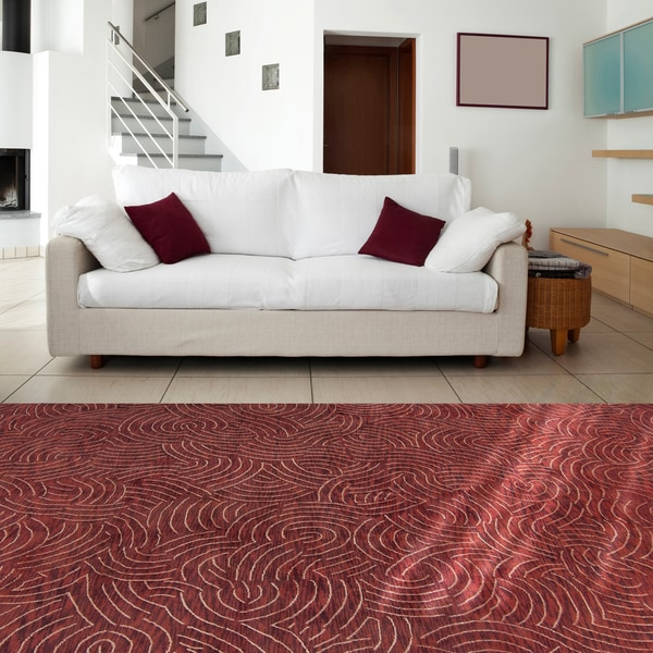 Hand-knotted Ridgewood Abstract Design Wool Area Rug - 8' x 11'