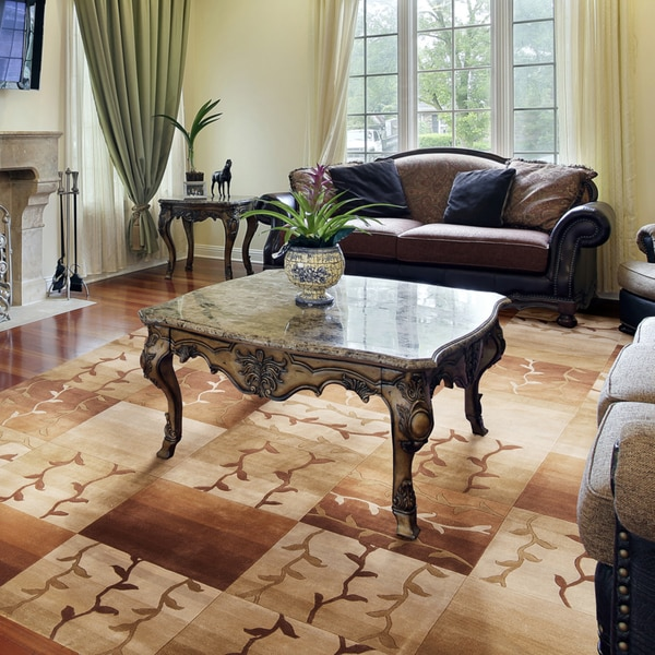 Hand-knotted Corum Wool Rug (9' x 13')
