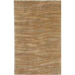 Hand-knotted Amberly Abstract Design Wool Rug (4' x 6')