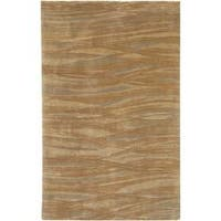 Hand-knotted Amberly Abstract Design Wool Area Rug - 4' x 6'