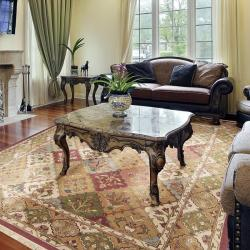 Hand-knotted Triumphant Wool Rug (9' x 12') - Thumbnail 1