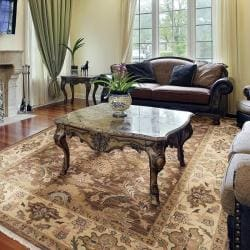 Hand-knotted Dapper Wool Rug (9' x 12') - Thumbnail 2