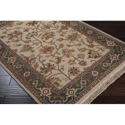 Hand-knotted Savoy Wool Rug (6' x 9') - Thumbnail 1