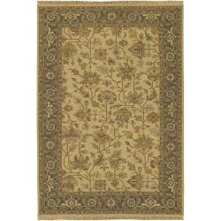 Hand-knotted Savoy Wool Area Rug (6' x 9') - Thumbnail 0