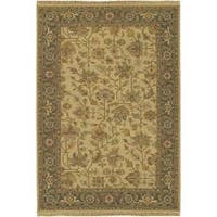 Hand-knotted Savoy Wool Area Rug (6' x 9')