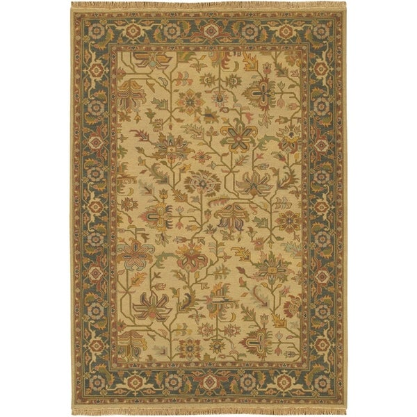 Hand-knotted Savoy Wool Area Rug - 6' x 9'