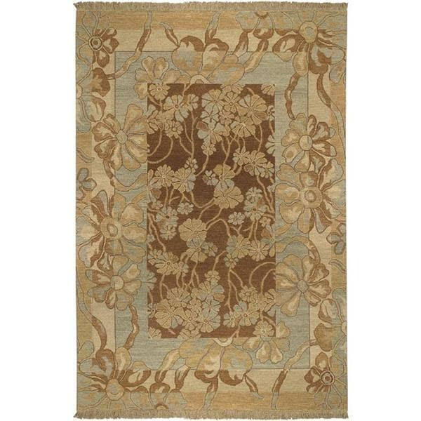 Hand-knotted Coventry Wool Area Rug - 6' x 9'. Opens flyout.