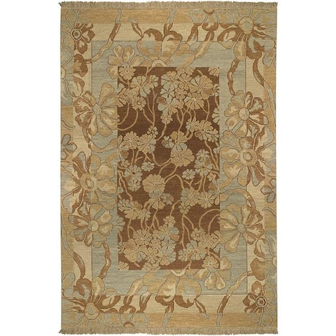Hand-knotted Coventry Wool Area Rug - 6' x 9'