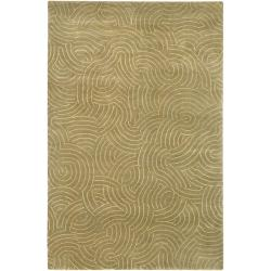 Hand-knotted Woodstock Abstract Design Wool Area Rug - 8' X 11' - Thumbnail 0