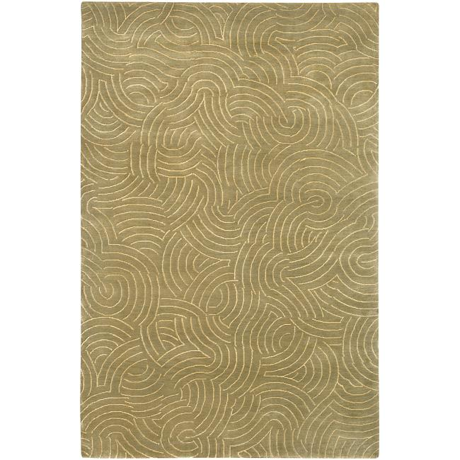 Hand-knotted Woodstock Abstract Design Wool Rug (9' x 13') - Thumbnail 0