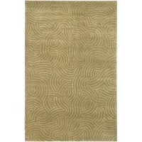 Hand-knotted Woodstock Abstract Design Wool Area Rug - 9' x 13'