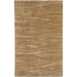 Hand-knotted Amberly Abstract Design Wool Rug (8 x 11')