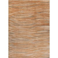 Hand-knotted Amberly Abstract Design Wool Area Rug - 8' x 11'