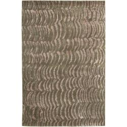 Hand-knotted Verve Abstract Design Wool Area Rug - 9' x 13' - Thumbnail 0