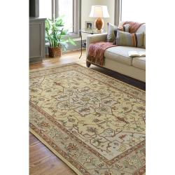 Hand-knotted Serpentine Wool Rug (10' x 14') - Thumbnail 1