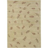 Hand-knotted Mantis Wool Area Rug (9' x 13')