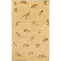 Hand-knotted Mantis Wool Area Rug - 9' x 13'